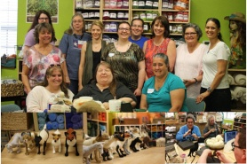 Needle Felted Animals Workshop with Megan Nedds of The Woolen Wagon featured on www.livingfelt.com/blog