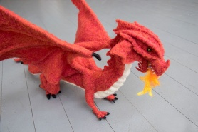 Fire Breathing Dragon by Wendy Kamai featured on www.livingfelt.com/blog