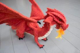 Fire Breathing Dragon by Wendy Kamai featured on www.livingfelt.com/blog