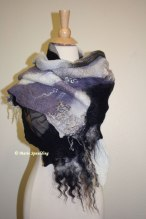 Nuno Felted Shawl - tutorial at www.livingfelt.com