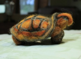Needle Felted Turtle by Alma Petry featured on www.livingfelt.com/blog