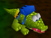 Alligator character from N-64 video game