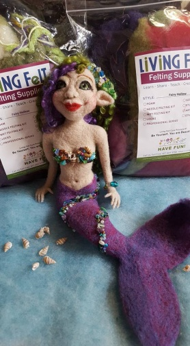 Felted Mermaid by Sonja Weeks Oswalt featured on www.livingfelt.com/blog
