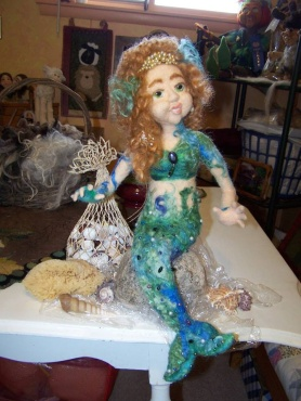 Felted Mermaid by Ruth Yoder featured on www.livingfelt.com/blog