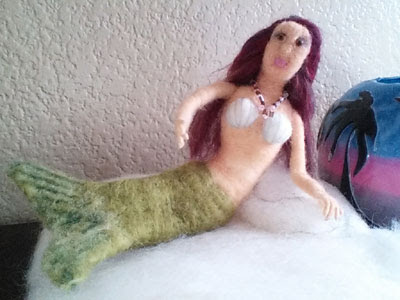 Felted Mermaid by Patti Bronecky featured on www.livingfelt.com/blog
