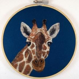 Needle Felted Giraffe by Lauren Beach featured on www.livingfelt.com/blog