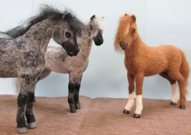 Needle Felted Horses by Candace Osborn featured on www.livingfelt.com/blog