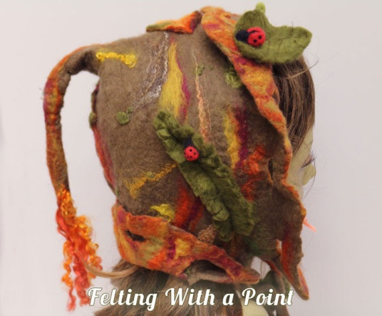 Wet Felted Fall Fairytale Hat by Judi Francis featured on www.livingfelt.com/blog.