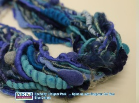 Hand Spun Art Yarn by Heather Otto featured on www.livingfelt.com/blog