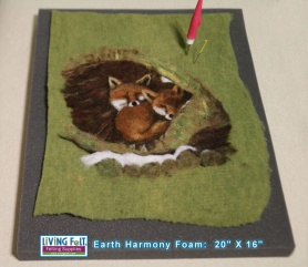 Jumbo Needle Felting Foam featured on www.livingfelt.com/blog