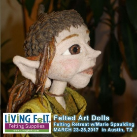 Felted Doll Workshop featured on www.livingfelt.com/blog