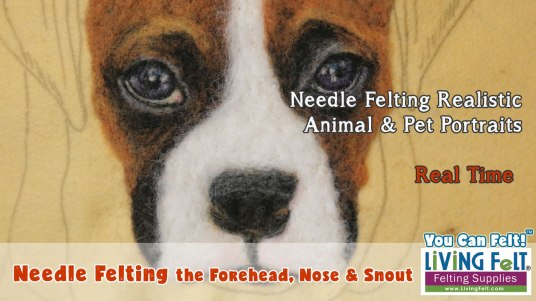 Free Needle Felting a Realistic Pet Portrait Video Series featured on www.livingfelt.com/blog