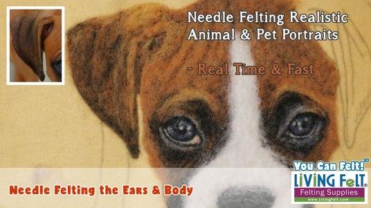 Free Needle Felting a Realistic Pet Portrait Video Series featured on www.livingfelt.com/blog