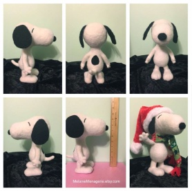 Felted Snoopy by Melanie Noord Monsees featured on www.livingfelt.com/blog.