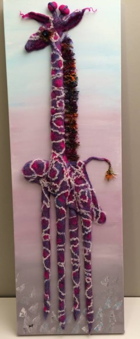 Felted Giraffe by Wendy Fifield featured on www.livingfelt.com/blog
