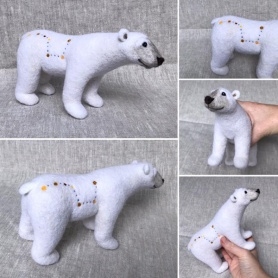 Felted Ursa Major Bear by Erin Carlson featured on www.livingfelt.com/blog