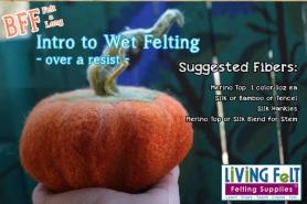 FREE FELT-A-LONG FOR Wet Felted Pumpkin featured on www.livingfelt.com/blog