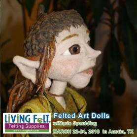Felted Art Dolls Workshop featured on www.LivingFelt.com/blog