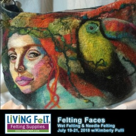 Felting Faces Workshop featured on www.LivingFelt.com/blog