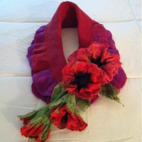 Felted Fashion Scarf by Kathleen Simon featured on www.livingfelt.com/blog