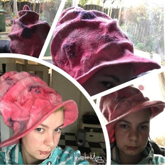 Felted Witch Hat by Sammiej Brinkman featured on www.livingfelt.com/blog