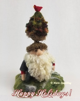 Felted Gnome by Marie Spaulding featured on www.livingfelt.com/blog