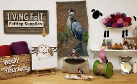 Felted Birds of a Feather Exhibit featured on www.livingfelt.com/blog