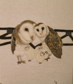 Barn Owl Family by Linda Brodersen featured on www.livingfelt.com/blog.
