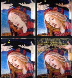 Needle Felted Botticelli's Madona by Debra Bosio Riley featured on www.livingfelt.com/blog