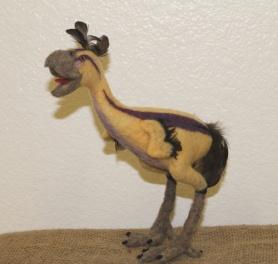 Felted Terror Bird by Rachel Carter featured on www.livingfelt.com/blog