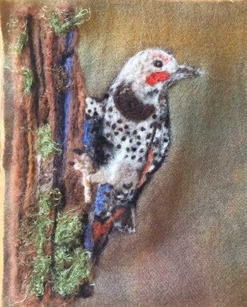 Felted Bird by Ann Dworzynski Frischkorn featured on www.livingfelt.com/blog
