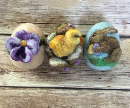 Felted Easter Eggs by Melissa Brown-Dallke featured on www.livingfelt.com/blog