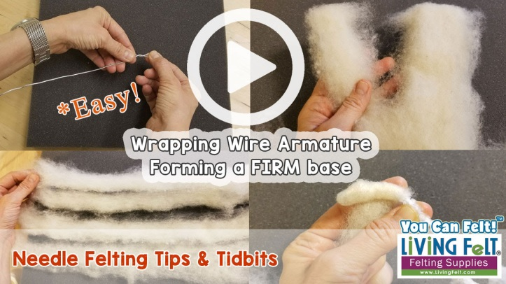 Free Tutorial: Wrapping a Wire Armature to Form a Firm Base featured on www.livingfelt.com/blog